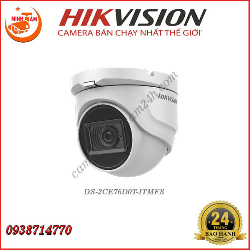 Camera Hikvision 2MP DS-2CE76D0T-ITMFS
